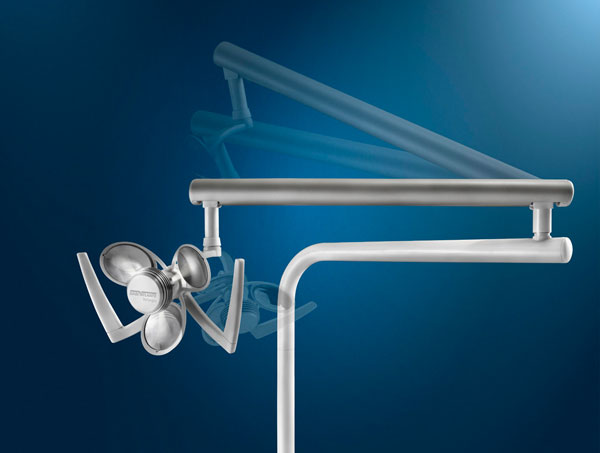 Операционный бестеневой диодный светильник Bellagio( TITANIUM )